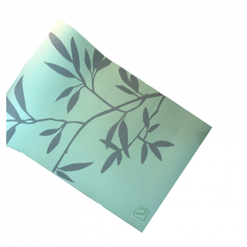 Йога-килимок LiveUP PVC PRINTED YOGA MAT зелений