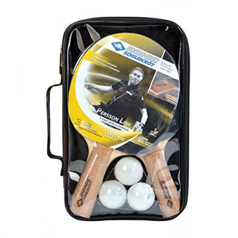 Набір для настільного тенісу Persson 500 Cork 2-Player Set (2 ракетки Persson 500, 3 м'ячі)