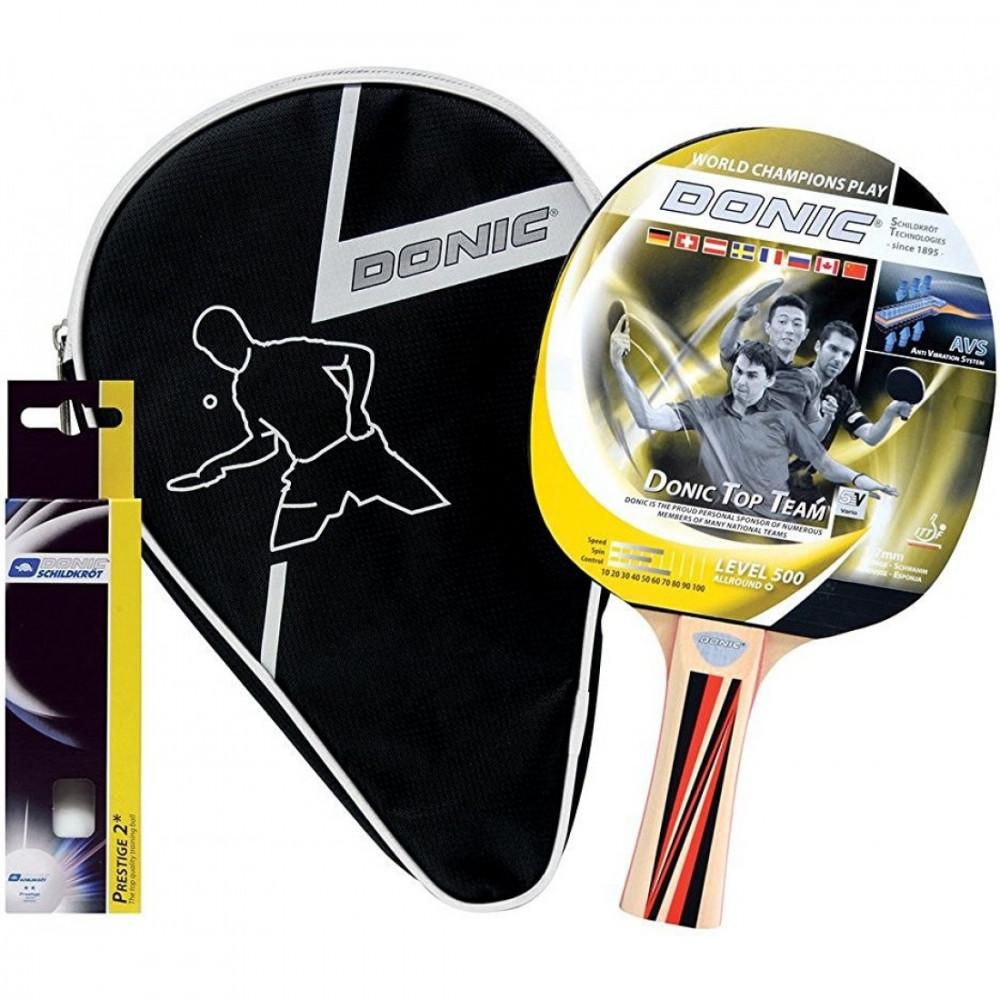 Набір для настільного тенісу Top Team 500 Gift Set (1 ракетка Top Team 500, 3 м'ячі)