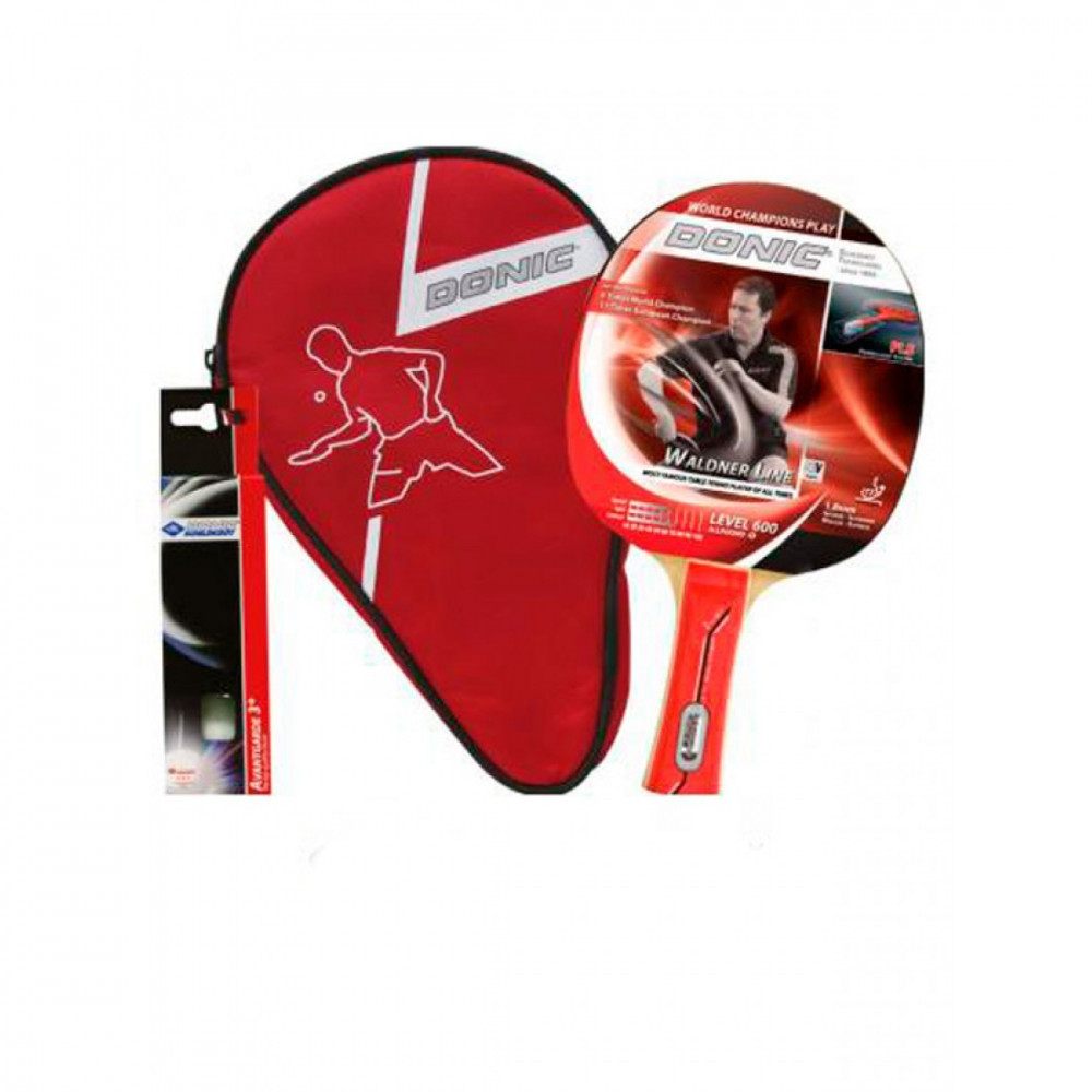 Набір для настільного тенісу Waldner 600 Gift Set (1 ракетка Waldner 600, 3 white 3 * Avan)