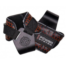 Крюки для тяги на запястья Power System Hooks V2 PS-3360 Black/Red XL