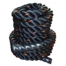Канат для кроссфита Power System Battle Rope PS-4047 Black/Orange