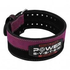 Пояс для пауэрлифтинга Power System PS-3850 Strong Femme Black/Pink S