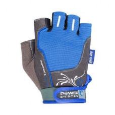 Перчатки для фитнеса и тяжелой атлетики Power System Woman's Power PS-2570 женские Blue XL