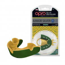 Капа OPRO Junior Silver Green/Gold (art.002190003)