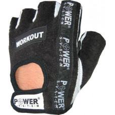 Перчатки для фитнеса и тяжелой атлетики Power System Workout PS-2200 S Black