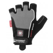 Перчатки для фитнеса и тяжелой атлетики Power System Man's Power PS-2580 L Black/Grey
