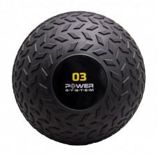 Мяч SlamBall для кроссфита и фитнеса Power System PS-4114 3кг рифленый