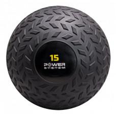 М'яч SlamBall для кроссфіта і фітнесу Power System PS-4117 15кг рифлений