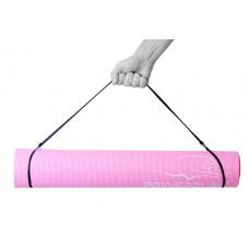 Коврик для фитнеса и йоги PowerPlay 4010 (173*61*0.4) Розовый
