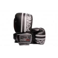 Боксерские перчатки PowerPlay 3010 Черно-Серые 10 унций