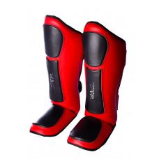 Защита голени и стопы PowerPlay 3032 Черно-Красный M
