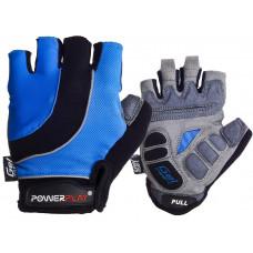 Велоперчатки PowerPlay 5037 A Черно-голубые M