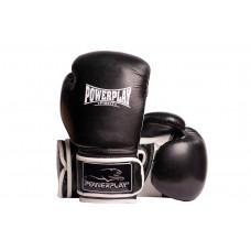 Боксерские перчатки PowerPlay 3019 Черные 8 унций