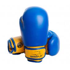 Боксерские перчатки PowerPlay 3004 JR Сине-Желтые 8 унций