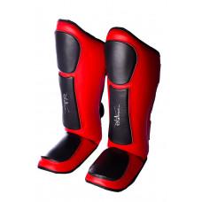 Защита голени и стопы PowerPlay 3032 Черно-Красный XL