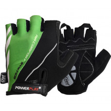 Велоперчатки PowerPlay 5024 B Черно-зеленые M