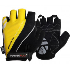 Велоперчатки PowerPlay 5024 D Черно-желтые M