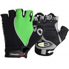 Велоперчатки PowerPlay 5019 A Черно-зеленые L
