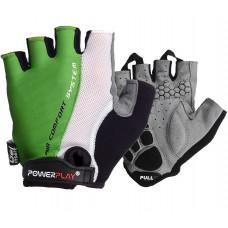Велоперчатки PowerPlay 5010 C Бело-зеленые L