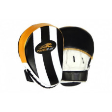 Лапы боксерские PowerPlay 3041 Золотые PU [пара]