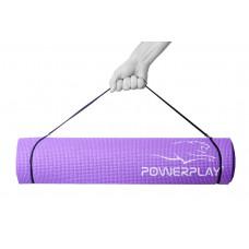 Коврик для фитнеса и йоги PowerPlay 4010 (173*61*0.6) Фиолетовый