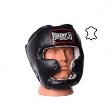 Боксерский шлем тренировочный PowerPlay 3065 Черный L/XL