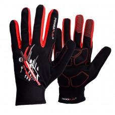 Перчатки для бега PowerPlay 6607 Черно-Красные-XXL