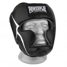 Боксерский шлем тренировочный PowerPlay 3066 PU + Amara Черный L
