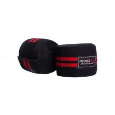 Бинты для колен PowerPlay 2509 Черно-Красные