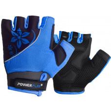 Велорукавиці PowerPlay 5281 B Блакитні XS