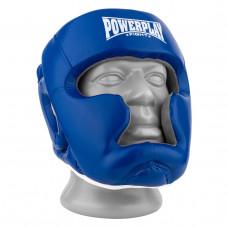 Боксерский шлем тренировочный PowerPlay 3068 PU + Amara Сине-Белый M
