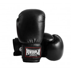 Боксерские перчатки PowerPlay 3004 Черные 18 унций