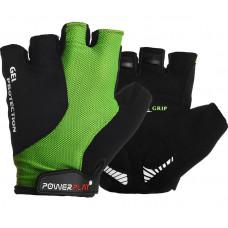Велоперчатки PowerPlay 5028 A Черно-зеленые L