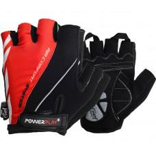 Велоперчатки PowerPlay 5024 C Черно-красные L