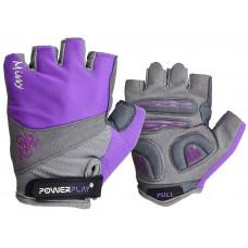 Велоперчатки PowerPlay 5277 А Фиолетовые XS