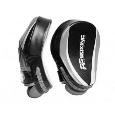 Лапы боксерские PowerPlay 3050 Черно-Cири PU [пара]