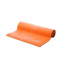 Коврик для фитнеса и йоги PowerPlay 4011 (173* 61*0.8) Оранжевый