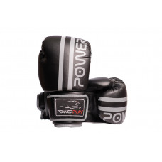 Боксерские перчатки PowerPlay 3010 Черно-Серые 16 унций