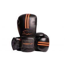 Боксерские перчатки PowerPlay 3016 Черно-Оранжевые 10 унций
