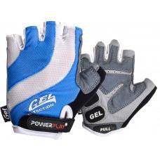 Велоперчатки PowerPlay 5034 Бело-голубые S