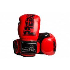 Боксерские перчатки PowerPlay 3017 Красные карбон 8 унций