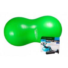 М'яч-горіх для фітнесу PowerPlay 4004 (100*50см) Зелений + насос