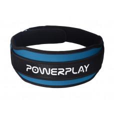 Пояс для важкої атлетики PowerPlay 5545 Синьо-Чорний (Неопрен) XS