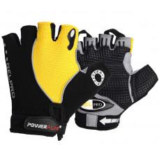 Велоперчатки PowerPlay 5019 B Черно-желтые XS