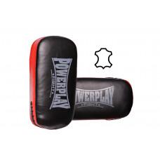 Пады для тайского бокса PowerPlay 3064 Черно-красные Кожа [пара]