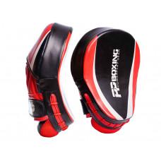 Лапы боксерские PowerPlay 3050 Черно-Красные PU [пара]