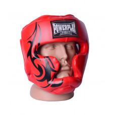 Боксерский шлем тренировочный PowerPlay 3043 Красный XL