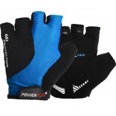 Велоперчатки PowerPlay 5028 C Черно-голубые M