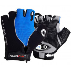 Велоперчатки PowerPlay 5019 C Черно-голубые M